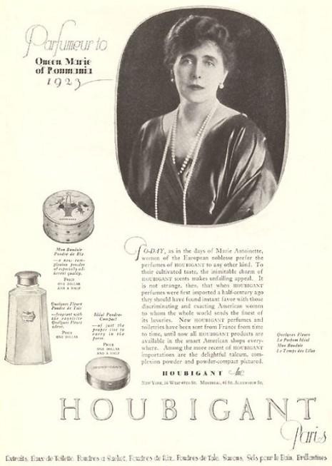 Marie de Roumanie parfum mon boudoir